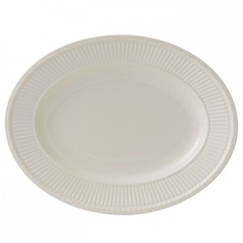 Edme Oval dish, 35cm, cream