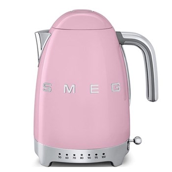 50's Retro Kettle with 7 temperature settings, 1.7 litres, pink