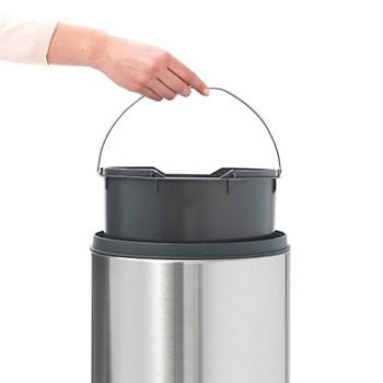 Touch bin, 30 litre, matt steel