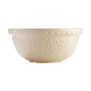 Fox Embossed Mixing bowl, 29cm, cream