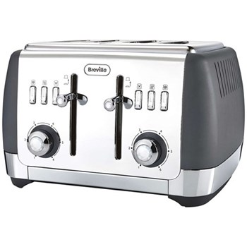 Strata - VTT764 Toaster, 4 Slice, grey