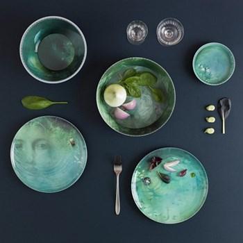 Set of 4 stackable melamine bowls and 4 plates D25 x H30cm