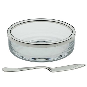 Butter dish with spreader 10cm