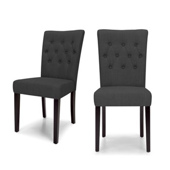 Flynn Set of 2 dining chairs, H95 x W45 D61cm, midnight black