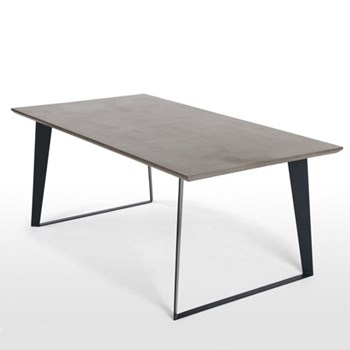 Boone Dining table, H75 x W100 x D190cm, concrete resin top