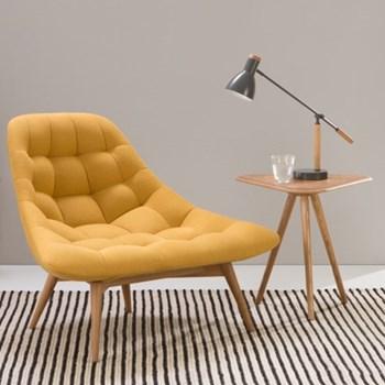 Kolton Chair, H85 x W117 x D92cm, yolk yellow