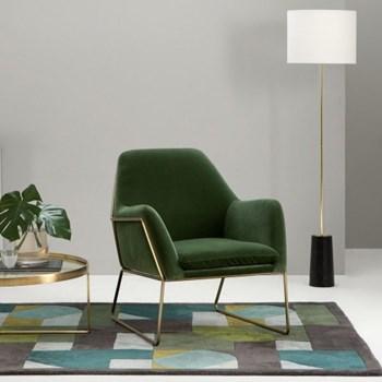 Frame Armchair, H84 x W77 x D88cm, grass cotton velvet