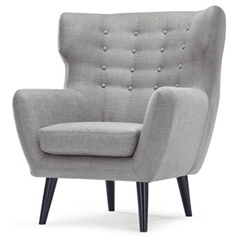 Kubrick Wing back chair, H105 x W83 x D85cm, pearl grey