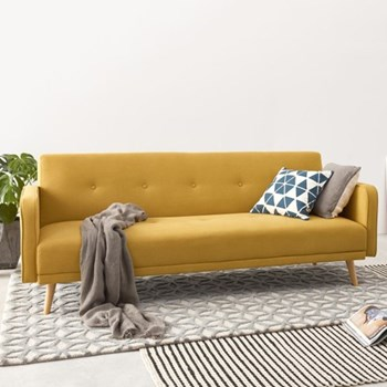 Chou Sofa bed, H82 x W210 x D88cm, butter yellow