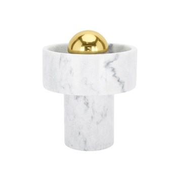 Stone Table lamp, D14 x H17.6cm, marble