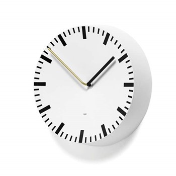 Analog Analog wall clock, L27 x W27 x D6.5cm, white