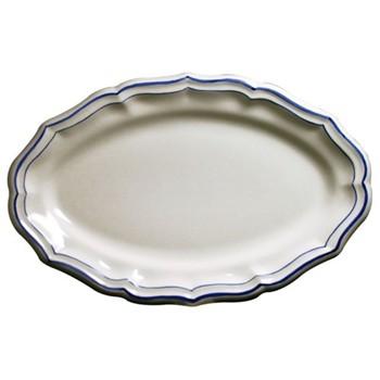 Filets Bleu Oval platter, 41 x 26.2cm