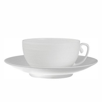 Hemisphere Breakfast saucer, white