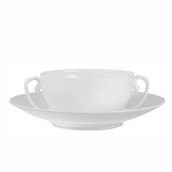 Hemisphere Cream soup saucer, white