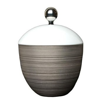 Hemisphere Sugar bowl with platinum button, 25cl, full platinum rim