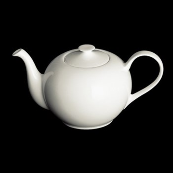 Classic Teapot round, 1.3 litre, white bone china
