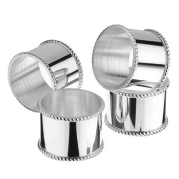 Set of 4 mounted napkin rings