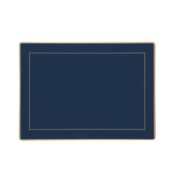 Set of 4 placemats with frame line 30 x 22cm