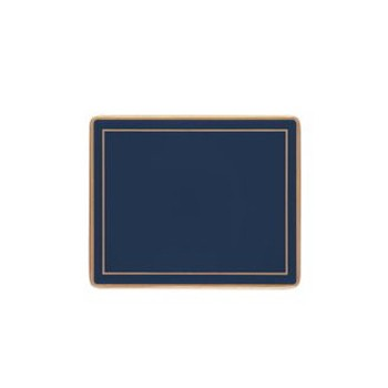 Set of 6 coasters with frame line 11 x 9cm