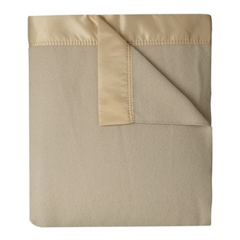 Lambswool and Cashmere Single blanket, 185 x 230cm, Champagne