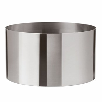 Arne Jacobsen Salad/fruit bowl, H13.4 x D24.3cm, satin stainless steel