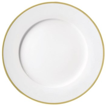 Fontainebleau American dinner plate, 27cm, gold