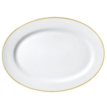 Fontainebleau Oval platter, 41 x 30cm, gold