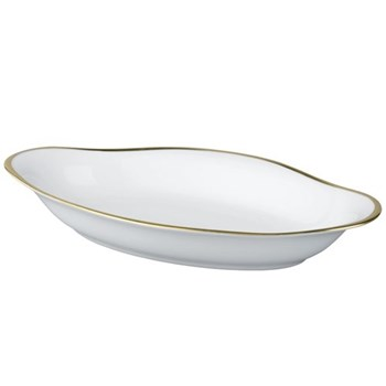 Fontainebleau Side/pickle dish, 23 x 13.5cm, gold