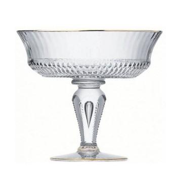 Apollo Footed bowl, gold rim