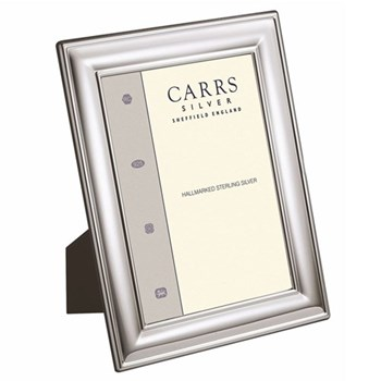 """LR Series - Plain Photograph frame, 10 x 8"""", sterling silver with mahogany finish back"""