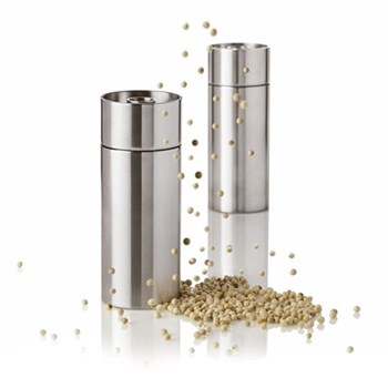 Arne Jacobsen Pepper mill, H12.5 x W5cm, satin stainless steel