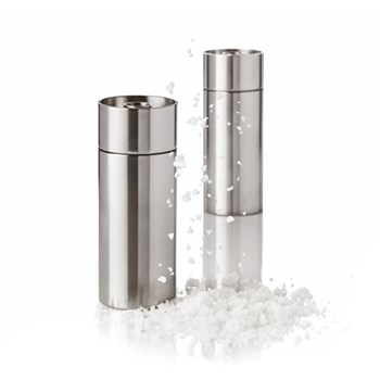 Arne Jacobsen Salt mill, H12.5 x W5cm, satin stainless steel