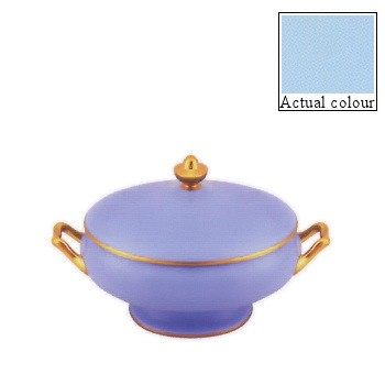 Sous le Soleil Covered vegetable dish, 21.5cm - 1.2 litre, opal with gold band