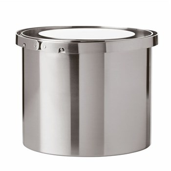 Arne Jacobsen Ice bucket, 1 litre - H11 x W13cm, satin stainless steel