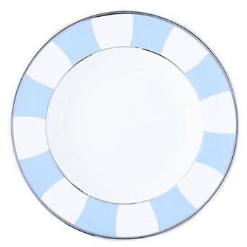 Galerie Royale Rim soup plate, 26cm, wallis blue