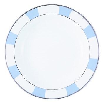 Galerie Royale Deep round dish, 29cm, wallis blue