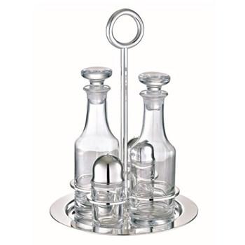 Vertigo Set of 4 condiment servers, Christofle silver