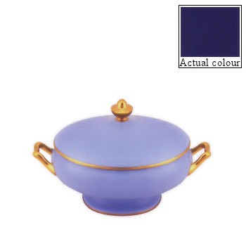 Sous le Soleil Covered vegetable dish, 21.5cm - 1.2 litre, cobalt blue with gold band