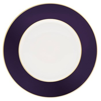 Sous le Soleil Charger plate, 30cm, cobalt blue with gold band