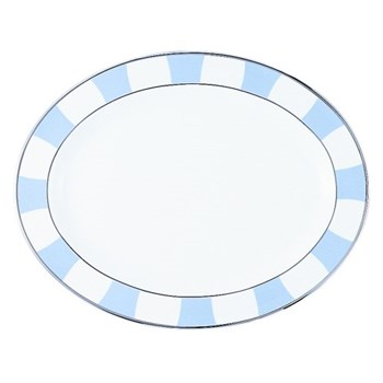 Galerie Royale Oval platter, 38cm, wallis blue