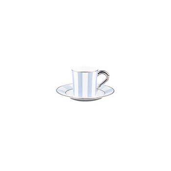 Galerie Royale Coffee cup and saucer, wallis blue