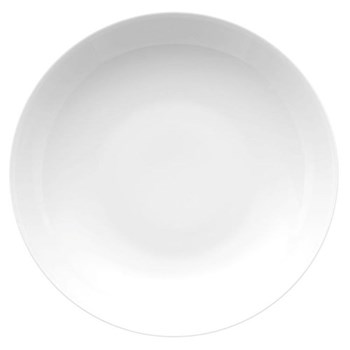 Medaillon Deep plate, 23cm, white