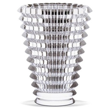 Eye Round vase, 15cm, clear
