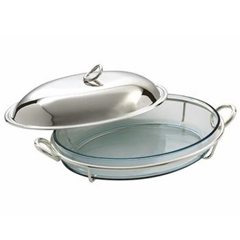 Vertigo Cover for oval gratin dish, 35cm, Christofle silver