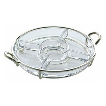 Vertigo Round Hors d'oeuvre plate, Christofle silver