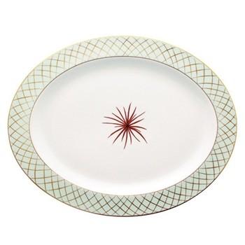 Etoiles Oval platter, 38cm