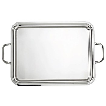 Elite Rectangular tray with handles, 40 x 26cm, silver plate
