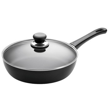 Classic Covered saute pan, 28cm, ceramic titanium