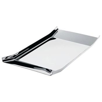 Arran by Enzo Mari Rectangular tray, stainless steel