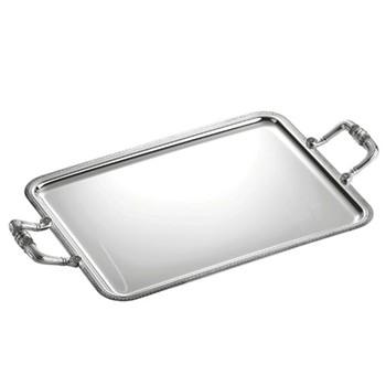 Malmaison Rectangular tray with handles, 49 x 39cm, Christofle silver